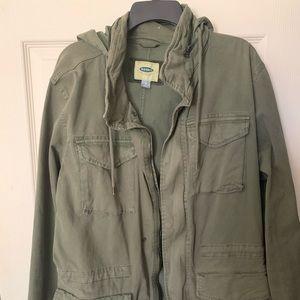 Men's olive green jacket